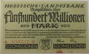 500,000,000 Mark (Hessische Landesbank) – obverse