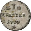 1 Kreuzer - Ludwig X – reverse