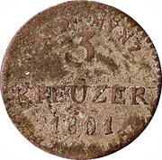 3 Kreuzer - Ludwig X – reverse