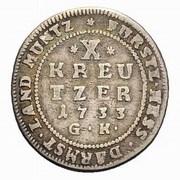 10 Kreutzer - Ernst Ludwig I – reverse