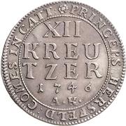 12 Kreuzer - Ludwig VIII – reverse