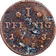 1 Pfennig - Ludwig IX – reverse
