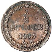 ½ Stüber - Ludwig X – reverse