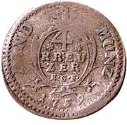 4 Kreuzer - Ludwig VIII – reverse