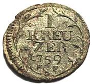 1 Kreuzer - Ludwig IX of Hessen-Darmstadt – reverse