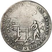 1 Thaler - Ernst Ludwig (Rother Gottesgabe Ausbeute) – reverse