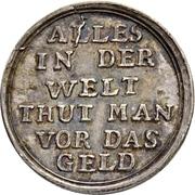 1 Ducat - Ludwig VIII. (Jagddukat; Silver pattern strike) – reverse