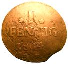 1 Pfennig - Ludwig X – reverse