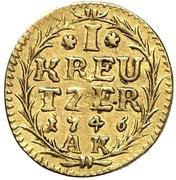 1 Kreuzer - Ludwig VIII. (gold pattern strike) – reverse