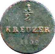 ½ Kreuzer - Ludwig X – reverse