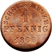 1 Pfennig - Ludwig III – reverse