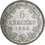 6 Kreuzer - Ludwig III. – reverse