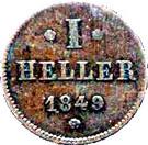 1 Heller - Ludwig III – reverse