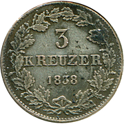 3 Kreuzer - Ludwig II. – reverse