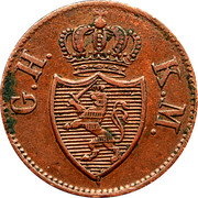 1 Heller - Ludwig II – obverse