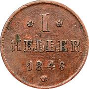 1 Heller - Ludwig II. – reverse