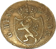 ¼ Kreuzer - Ludwig I. – obverse