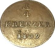 ¼ Kreuzer - Ludwig I. – reverse
