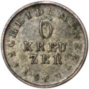 6 Kreuzer - Ludwig I. – reverse