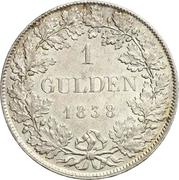 1 Gulden - Ludwig II. – reverse