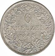 6 Kreuzer - Ludwig II. – reverse