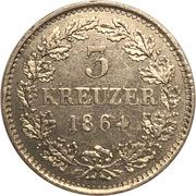 3 Kreuzer - Ludwig III. – reverse