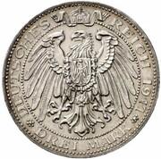 3 Mark - Ernst Ludwig (Jubilee - Pattern) – reverse