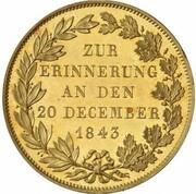 1 Gulden - Ludwig II. (Royal Visit Gold Pattern) – reverse