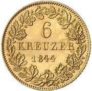 6 Kreuzer - Ludwig II. (Gold Pattern) – reverse
