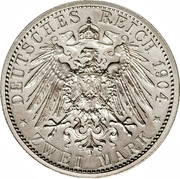 2 Mark - Ernst Ludwig (Philipp the Magnanimous) – reverse