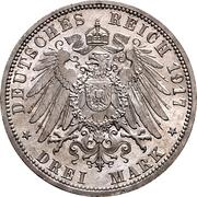 3 Mark - Ernst Ludwig (Jubilee) – reverse