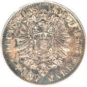 5 Mark - Ludwig III – reverse