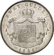 2 Gulden - Philipp August – reverse