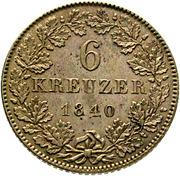 6 Kreuzer – reverse