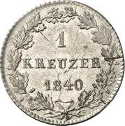1 Kreuzer - Philipp August – reverse