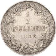 ½ Gulden - Ludwig Wilhelm – reverse
