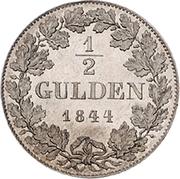 ½ Gulden - Philipp August – reverse