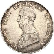 1 Gulden - Ludwig Wilhelm – obverse