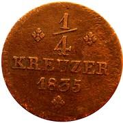 ¼ Kreuzer - Wilhelm II and Friedrich Wilhelm – reverse