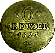 6 Kreuzer - Wilhelm II. – reverse