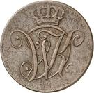2 Heller - Wilhelm I – obverse
