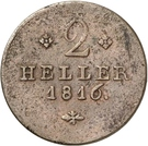 2 Heller - Wilhelm I – reverse