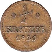 ¼ Kreuzer - Wilhelm II – reverse