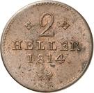2 Heller - Wilhelm IX. – reverse