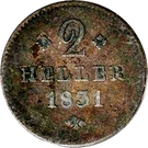2 Heller - Wilhelm II – reverse