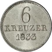 6 Kreuzer - Wilhelm II and Friedrich Wilhelm – reverse
