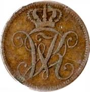 4 Heller - Wilhelm II – obverse