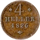 4 Heller - Wilhelm II – reverse
