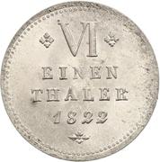 ⅙ Thaler - Wilhelm II – reverse