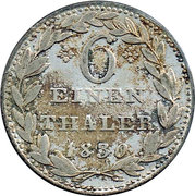 ⅙ Thaler - Wilhelm II. – reverse